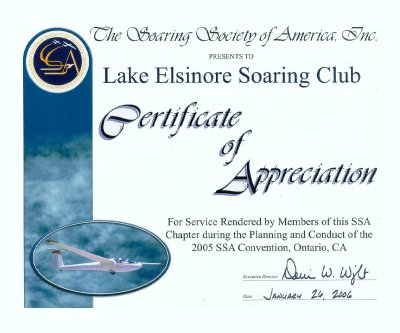 Certificate of Appreciation from the SSA