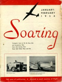 Jan/Feb '54 Soaring cover
