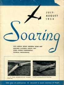 Jul/Aug '54 Soaring cover