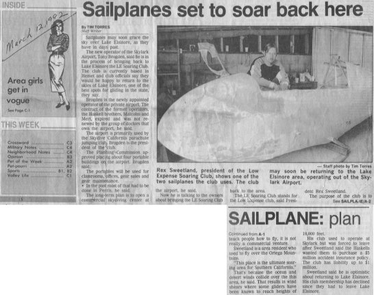 Low Expense Soaring Club News Clipping