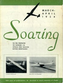 Mar/Apr '54 Soaring cover