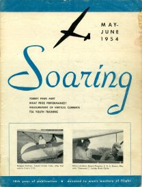 May/Jun '54 Soaring cover