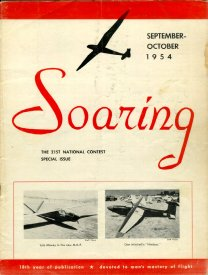 Sep/Oct '54 Soaring cover